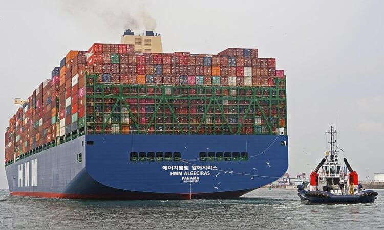 Världens största fartyg - HMM Algeciras  största containerfartyg